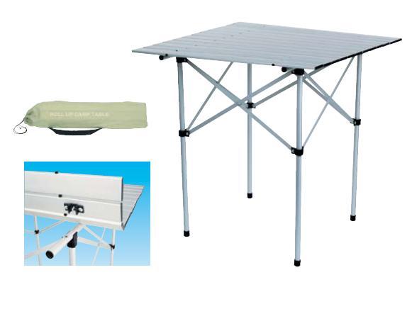 Tavolo arrotolabile Alluminio 70x70cm.