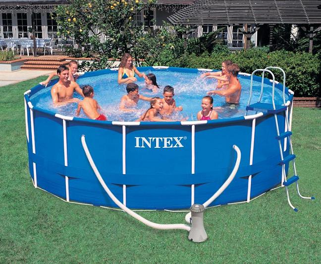 piscina intex frame 457x122 cm con accessori