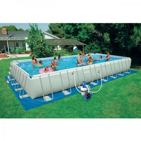 Piscina ultra frame cm 975x488x132 con accessori - Accessori piscine intex ...