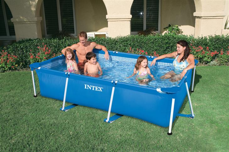 Piscina intex frame 300x200x75 cm for Piscinas rectangulares intex